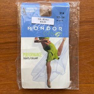 Mondor 314 Girls Convertible Tan Dance Tights
